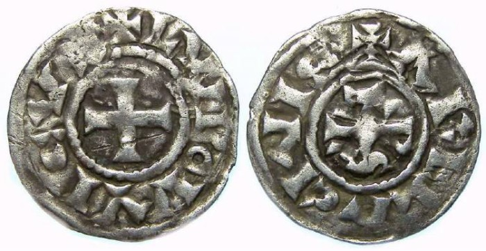 Ancient Coins - Carolingian, Louis the Blind, AD 890 to 928,  King of Provence.