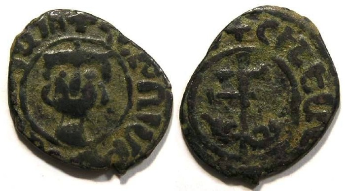 Ancient Coins - Armenia. Hetoum II, AD 1289 to 1305. Copper Kardez.