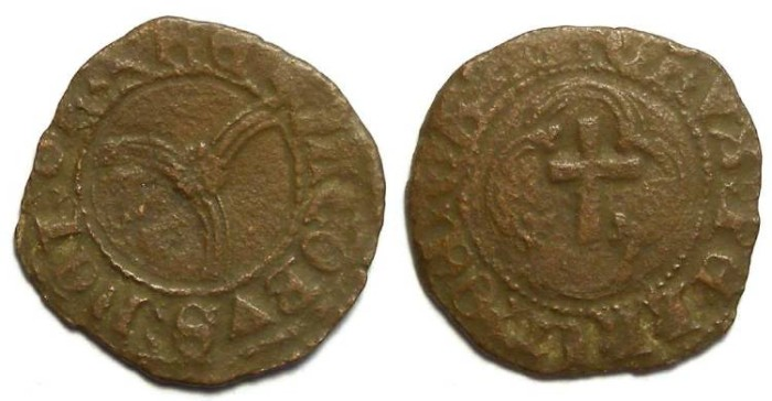 World Coins - Scotland, James III, AD 1460 to 1488.  Copper penny.