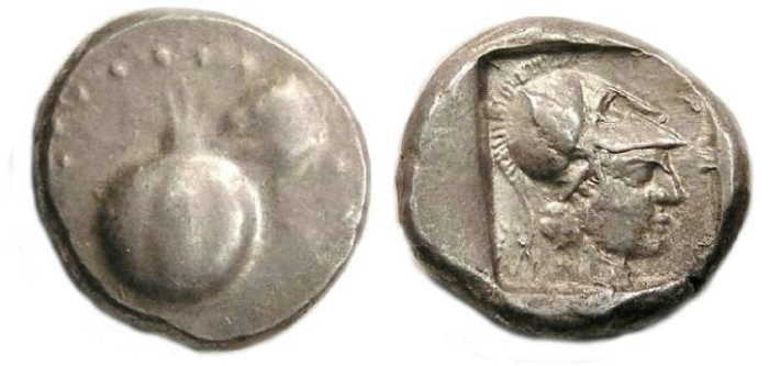 Ancient Coins - Pamphylia, Side.  ca. 450 to 410 BC.  Silver stater.