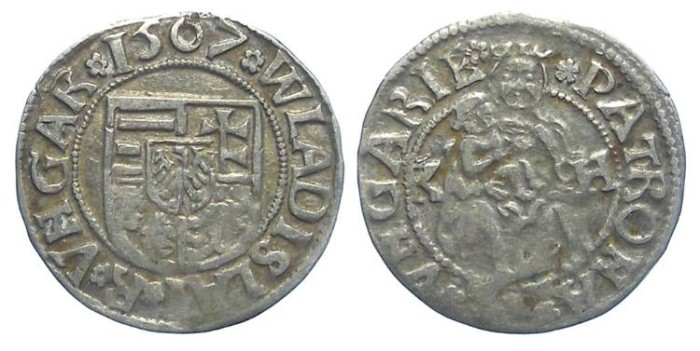 Ancient Coins - Hungary. Wladislaus II. 1490 to 1516. Silver denar. Dated 1507