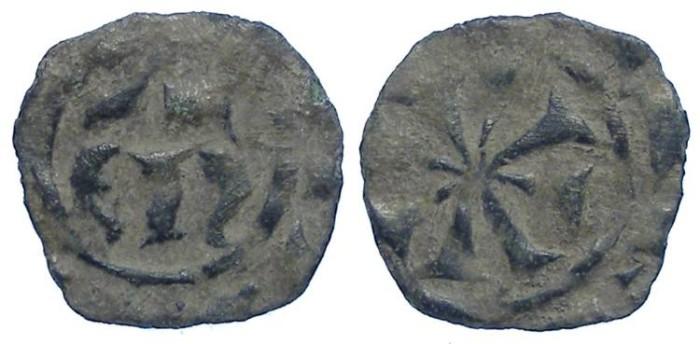 Ancient Coins - Italy. Kingdom of Sicily. Manfred von Hohenstaufen, 1258-1266. Billon Denaro.