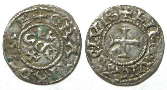 Ancient Coins - Carolingian,The West Frankish Kingdom. Eudes, AD 888 to 897.