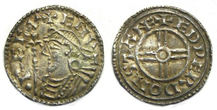 Ancient Coins - Britain, Anglo-Saxon. Cnut, AD 1016 to 1035. Silver penny.