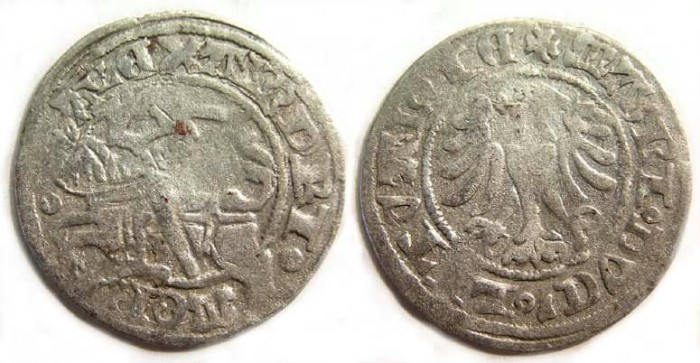 Ancient Coins -  Lithuania . Alexander Jagiello, AD 1492 to 1506.