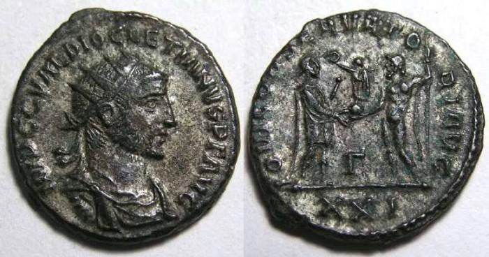 Ancient Coins - Diocletian, AD 284-305. Bronze antoninianus