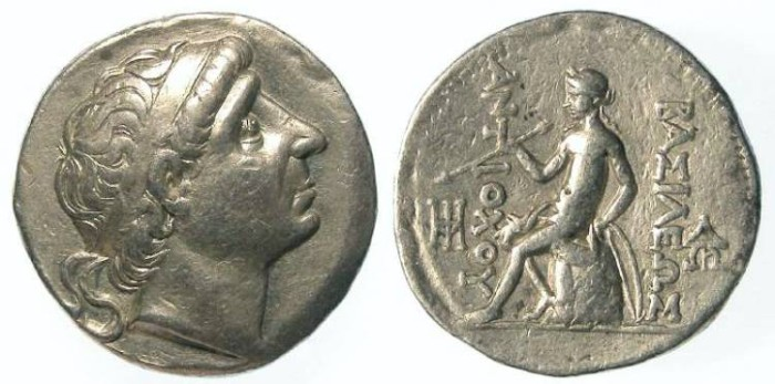 Ancient Coins - Seleukid. Antiochos I, 281 to 261 BC. Silver tetradrachm.
