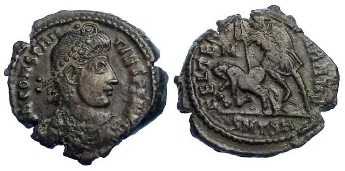 Ancient Coins - Constantius II as Augustus, AD 337-361. AE 3
