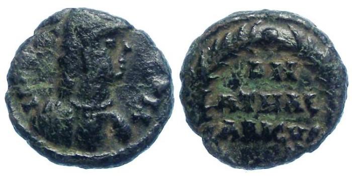 Ancient Coins - Ostrogoths. Athalaric, AD 526 to 534.  AE decanummium.