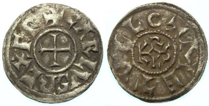 Ancient Coins - Carolingian, Charles the Bald. AD 840 to 870. King of the West Franks.