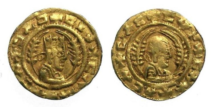 Ancient Coins - Axumite. Anonymous successors of Ezanas. ca. AD 340 to 425.  Gold unit.