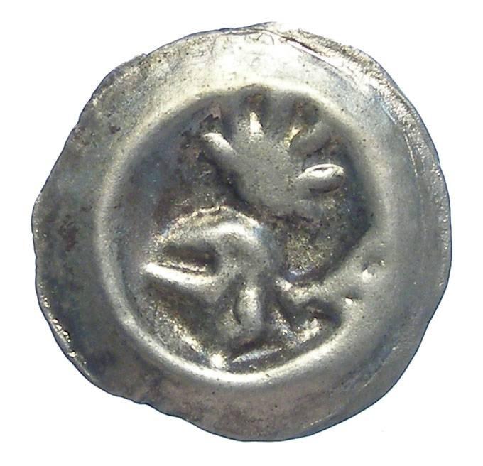 World Coins - German, Frankfurt.  Silver Bracteate Hohlpfennig. 15th century.