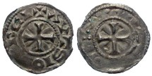 World Coins - French Feudal. Auxerre.  Anonymous denier.  10th century.