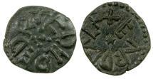 World Coins - English. Kingdom of Northumbria. Aethelred II, AD 841 to 844. AE Styca