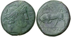 Ancient Coins - THE MAMERTINI.  MESSANA IN SICILY.  CA. 288-278 BC.  AE 28