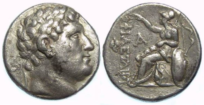 Ancient Coins - Pergamene Kingdom. Attalus I, ca. 241 to 197 BC. AR tetradrachm in the name of Philetairos.