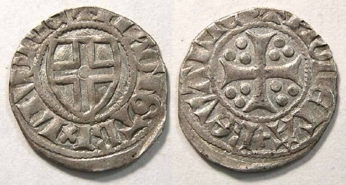 Ancient Coins - Estonia, Reval. Livonian order.  Anonymous Schilling. late 14th century.