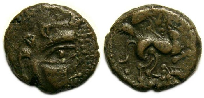 Ancient Coins - Celtic, Gaul. Baiocasses Tribe. mid 1st centry BC. Billon stater. Scarce style.