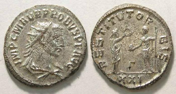 Ancient Coins - Probus, AD 276 to 282. Bronze Antoninianus.