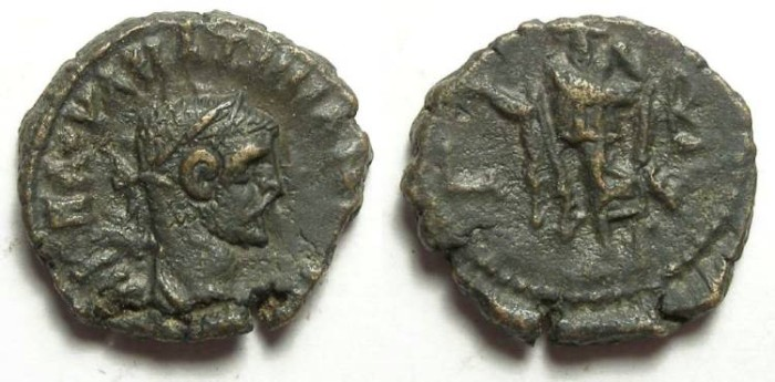 Ancient Coins - Alexandria, Maximianus, AD 286 to 305, Yr-2 potin tetradrachm. 18.5 mm.