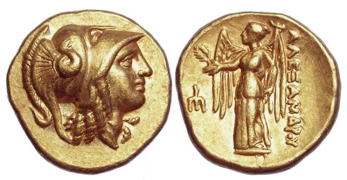 Ancient Coins - Macedonian Kingdom, Alexander the Great. 336 to 323 BC. Gold Stater.