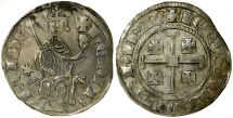 World Coins - Crusader. Cyprus. Henry II, second reign AD 1310 to 1324. AR Gros