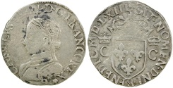 World Coins - French Royal. Charles IX, 1563 (Remes). AR. 1/2 teston.