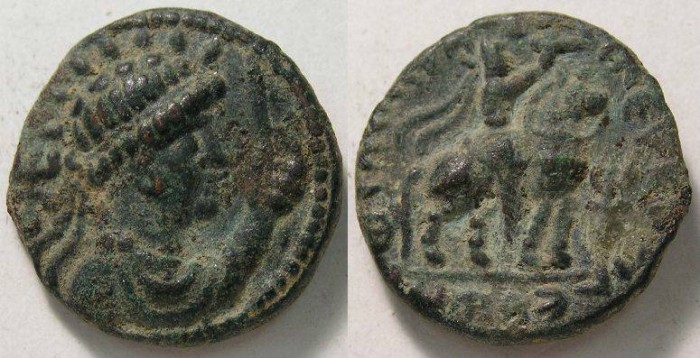 Ancient Coins - India, Kushan, Soter Megas, AD 55 to 105