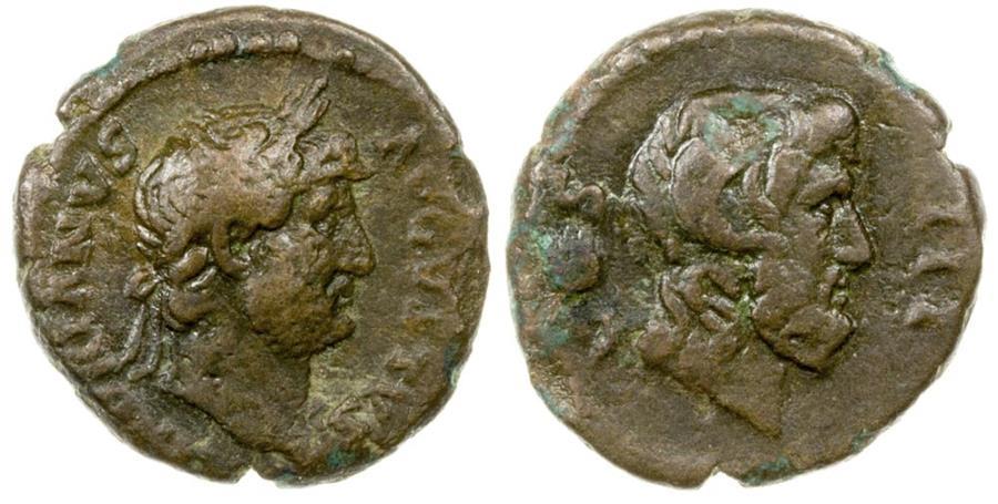 Ancient Coins - CAESARAEA-EUSEBIA IN CAPPADOCIA.  HADRIAN, AD 117-138.  AE 15