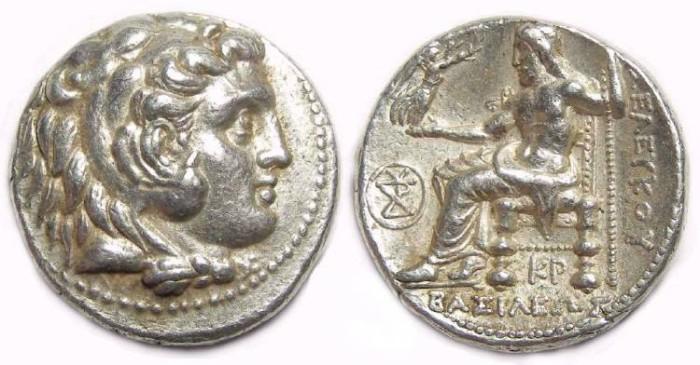 Ancient Coins - Seleukid Kingdom, Seleukos I, 312 to 280 BC. Silver tetradrachm.
