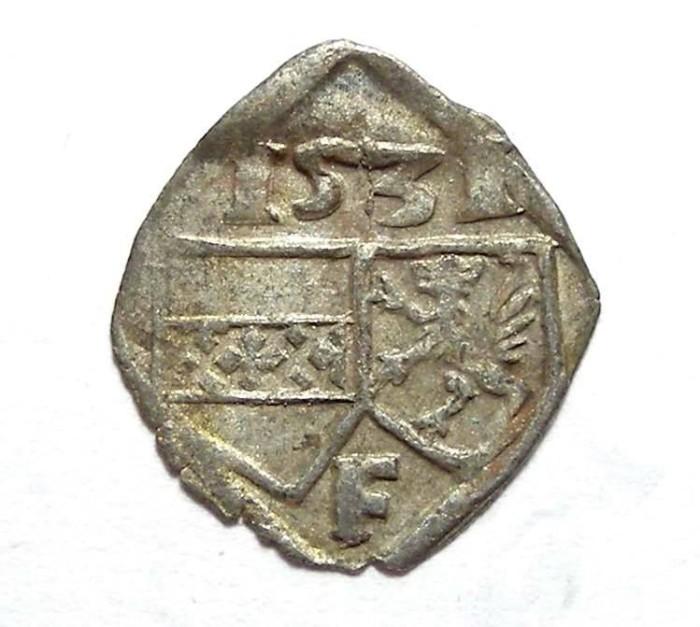 Ancient Coins - Austria, Styria.  Ferdinand I, AD 1522 to 1556. Billon Pfennig. AD 1531.