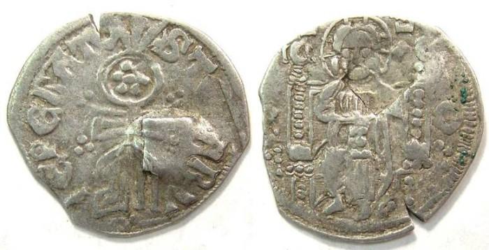 Ancient Coins - Serbia, Stefan Uros IV Dusan as Czar, AD 1345-1355.