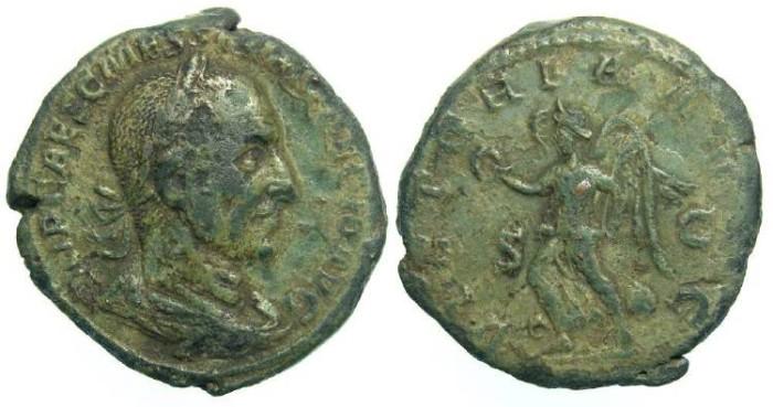 Ancient Coins - Trajan Decius, AD 249-251. Bronze sestertius