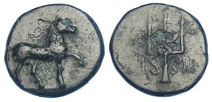 Ancient Coins - Mylasa in Caria. AE 12, ca. 210 to 230 BC.