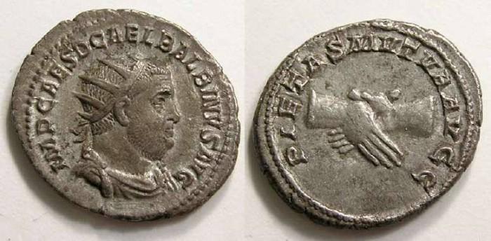 Ancient Coins - Balbinus.  AD 238.  Silver antoninianus.