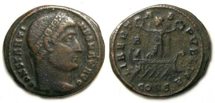 Ancient Coins - Constantine the Great, AD 307 to 337. AE 3. Scarce type.