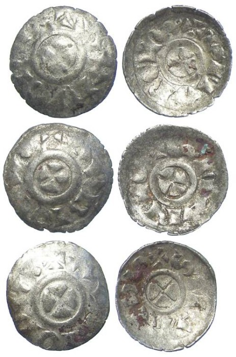 Ancient Coins - Lot of 3 coins. Italy, Venice. Orio Malipiero. AD 1178-1192. Silver Quarteruolo.