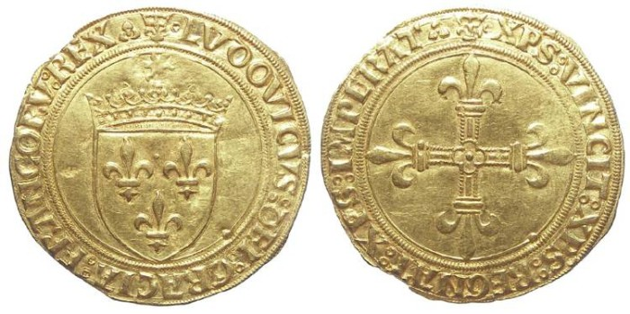 Ancient Coins - France. Louis XII, AD 1498 to 1514. Gold Ecu.