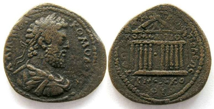 Ancient Coins - Commodus, AD 180-192. AE 31 from Tarsus