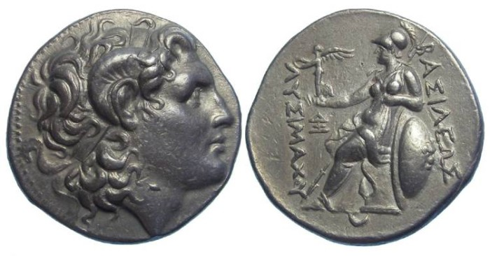 Ancient Coins - Kingdom of Thrace, Lysimachos, 297-281 BC. Silver tetradrachm.