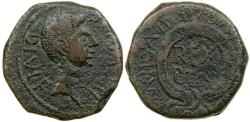 Ancient Coins - Ptolemy of Mauretania. Issued by Tiberius after AD 21, at Carthago Nova in Spain