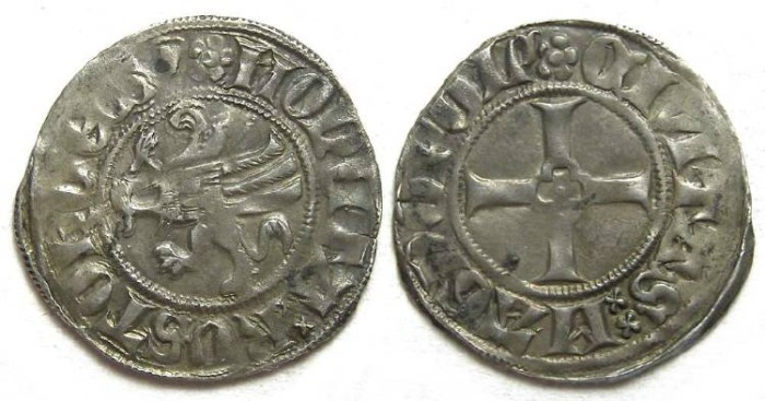 Ancient Coins - Germany, Rostock.  Before AD 1381. Silver Witten.