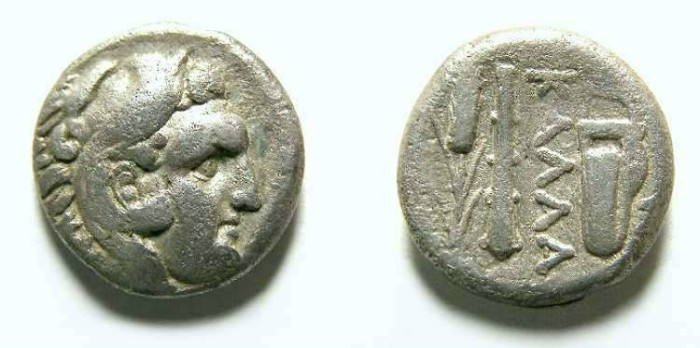 Ancient Coins - Kallatis in Thrace.  Silver tetrobol.  After 281 BC.