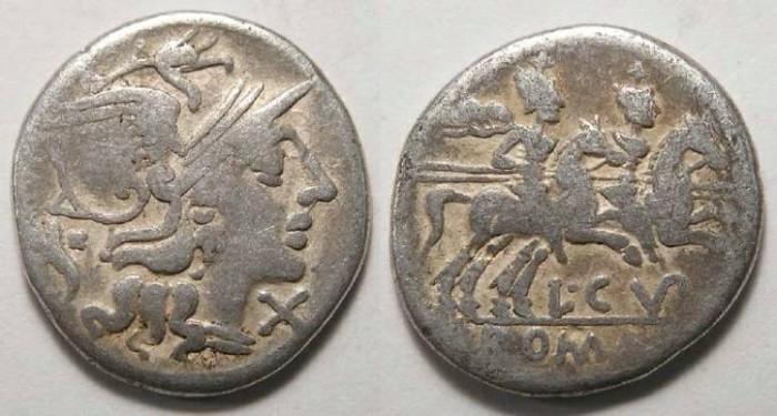 Ancient Coins - L. Cupiennius. ca. 147 BC. Silver denarius.