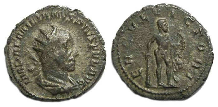 Ancient Coins - Aemilian, AD 253. Silver Antoninianus