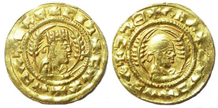 Ancient Coins - Axumite. Ebana, ca. AD 440 to 470. Gold unit.