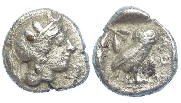 Ancient Coins - Athens, ca. 449-413 BC. Silver drachm.