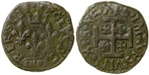World Coins - ITALY, SULMONA.  CHARLES VIII OF FRANCE.  CA. 1495.  AE CAVALLO