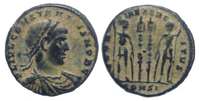 Ancient Coins - Constantius II as Caesar, AD 324 to 337. AE 3/4.