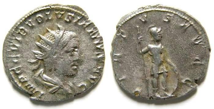 Ancient Coins - Volusian, AD 251-253. Silver antoninianus
